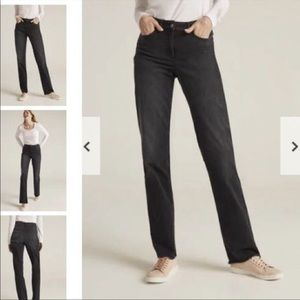 Long Tall Sally Black High Rise Straight Leg Jeans
